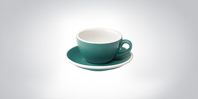 Loveramics Cappuccino coupe teal Cappuccino Cappuccinotasse