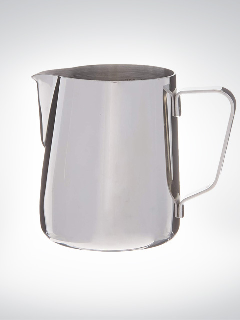 Rhinowares Pot à lait chrome avec indicateur de mesure